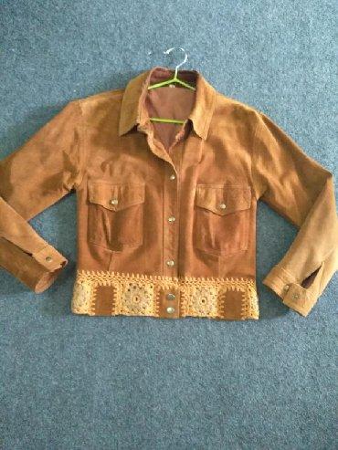 замшевые куртки в Кыргызстан: Женская замшевая курточка, размер 42-44, отличное состояние, замша