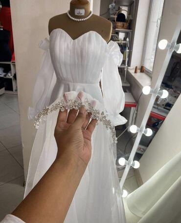 свадебные платья in Кыргызстан   КОНДИТЕРСКИЕ ИЗДЕЛИЯ, СЛАДОСТИ: Свадебное платье на прокат, недорого Индивидуальный пошив Надевала оди