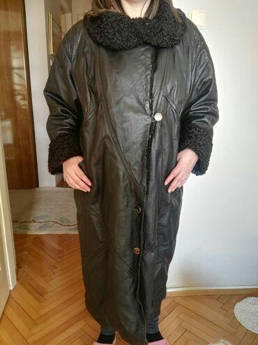 Astrahan bunda - Srbija: Kozna, nalozena bunda .Kragna i rukavi krzno astrahan,siri