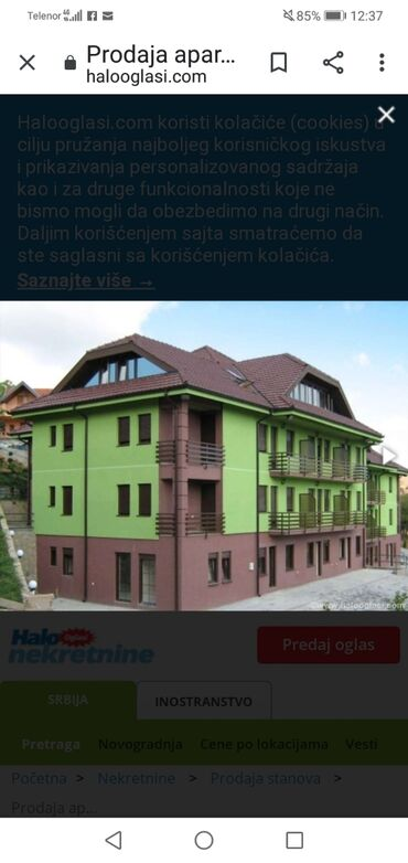 Muski satovi - Srbija: Apartment for sale: 3 sobe, 55 kv. m