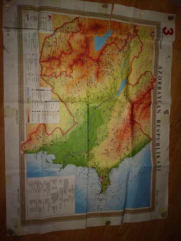Azerbaycan respublikasının xəritəsi