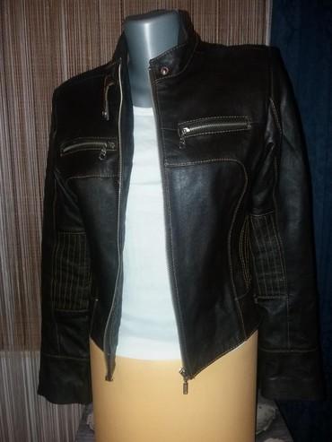 Turskoj-din - Srbija: Kožna jakna kupljena u Turskoj, moderan kroj. Nova. Za detaljnije