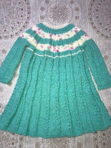 Платье вязанное  Новое  На 3-5 лет