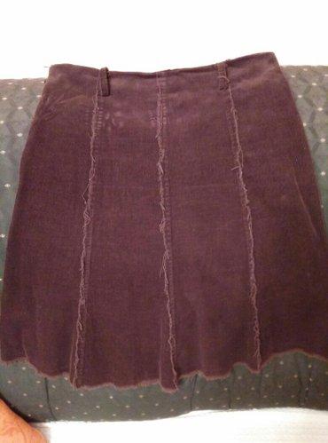 Braon - Srbija: Somot suknja braon boje,velicina 42,ocuvana. Robu saljem iskljucivo