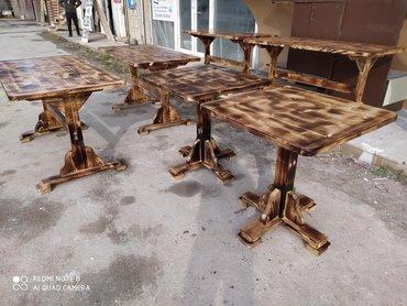 Restoran bag evleri ucun Masa ve oturacaqlar temiz quru wam agaci ile