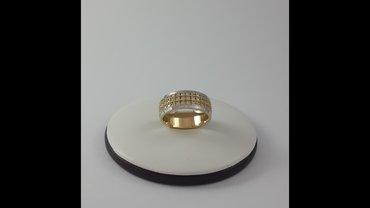 Кольцо из жёлтого, белого и красного золота 585 проба. размер 17. 5 в Бишкек