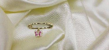 Булавки - Кыргызстан: Декоративная булавка из жёлтого золота  Италия  585 проба