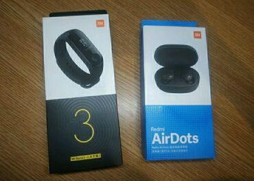 Часы Mi band3 + Airdots. Продам часы Xiaomi mi band 3 + наушники