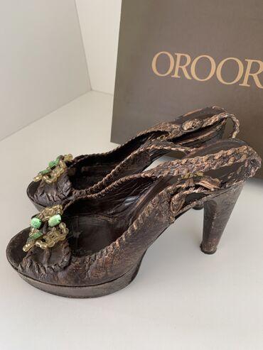 Boja bele kafe - Srbija: OROORO Oronzo De Matteis  italijanske sandale,koža 100%