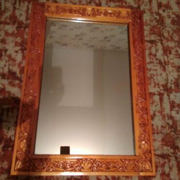 Зеркало 71,5 × 51 см, ручной работы, в рамке (резьба по дереву), шир