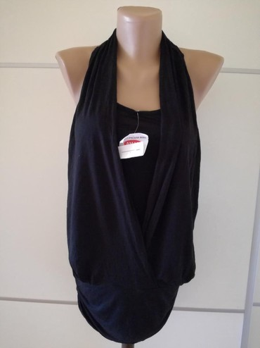 Ženska odeća | Bajina Basta: Nova crna pamucna majica HM velicina xs/s