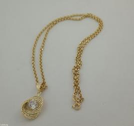 Цепочка с кулоном. Из жёлтого золота 585проба в Бишкек