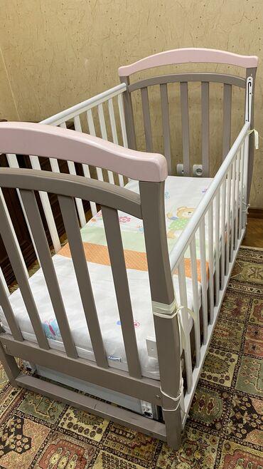 кровать трансформер детская купить в Кыргызстан: Детская кроватка Верес+Матрас «кокосовый» ортопедический. +Выдвижной
