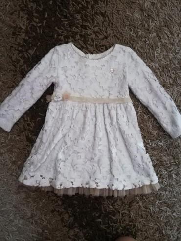 Haljina-postavljena - Srbija: BEBA KIDS haljinica, postavljena, sa cipkastim radom. Za devojčice od