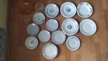 тарелка блюдце в Кыргызстан: Продается посуда: большие тарелки- 40 сом, среднии- 30 сом, десертные-