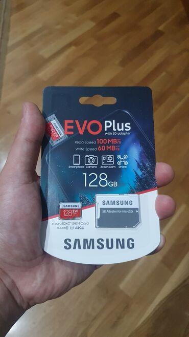 lancer - Azərbaycan: Samsung Evo Klass 10 128 Gb Mikro Yaddaş kartıTelefon və Videoqeydiyat