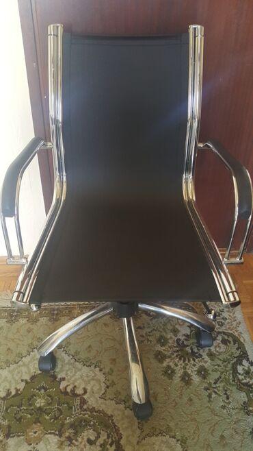 Kompjuter - Srbija: Kompjuterska,kancelariska stolica.Kombinacija niklovani metal i