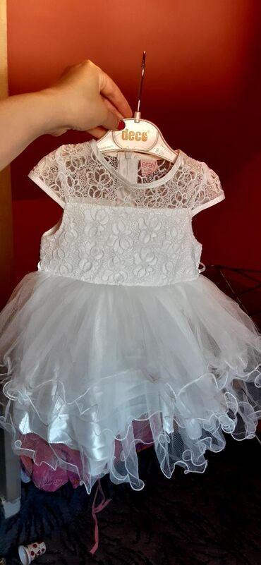 Bela haljina sa cipkom - Srbija: Cipkasta bela haljinica velicine od 98-3 godine nosena samo jednom