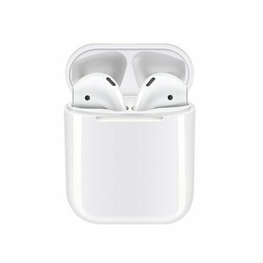 Наушники - Цвет: Белый - Бишкек: Airpods TWS12 Bluetooth наушники Usb шнур iphone в подарок Отличный зв