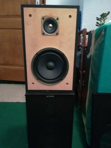 Mini-linija - Srbija: Prodajem odlične Sony dvosistemske zvučnike, drvene kutije, 60w-6-oma