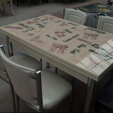 Açılan masa və 4oturacaq