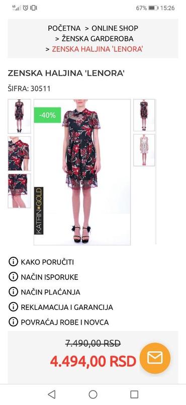 Haljina-s-msandale-poklon - Srbija: Haljina Katrin, potpuno nova, dobijena na poklon. Velicina 38
