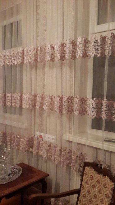 продаю красивую турецкую тюль сеточка с красивой нежной вышивкой 17 ме в Бишкек