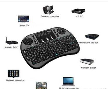 Bakı şəhərində Wireless bluetooth mini klaviatura ve tacpad maus sican.(smart tv box.