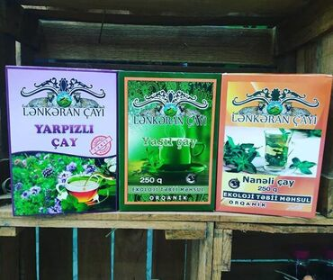 Organic shop 100% tebii yeri çay mehsullariQiymet 250qr ucun 6-17azn