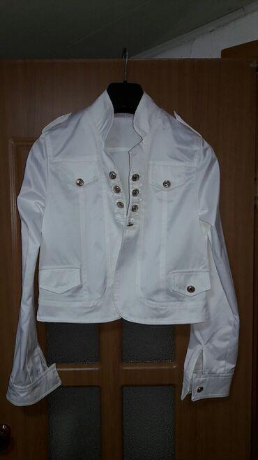 Стильная новая летняя курточка s 40-42 13-15лет, смотрится как