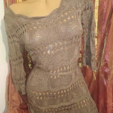 Ramena-sirina-cm - Srbija: Heklana haljina, vel M, par puta obucena. sirina ramena 40 cm 1/2,siri