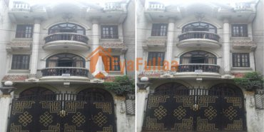 House having land area 0-2-3-2 of 3.5 floors, facing south, 13 feet in Kathmandu