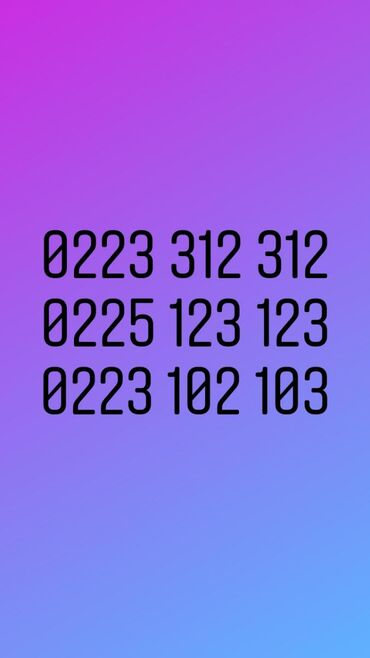 0225 какой оператор в Кыргызстан: Красивые номера недорогие Beeline.0226666626 2500сом0223 312 312