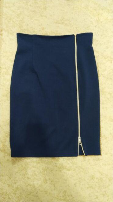 Офисная юбка-футляр с замкомЗамок рабочий, размер 46-48Ткань трикотаж
