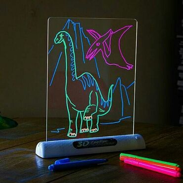 доска для рисования в Кыргызстан: Доска для рисования 3d magic drawing board + бесплатная доставка по
