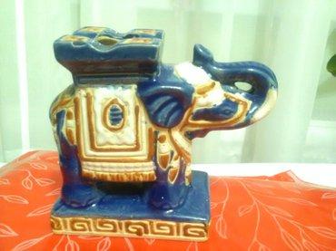 Veoma lepo keramičko slonče bez ikakvih oštećenja , dekorativno a - Pozarevac