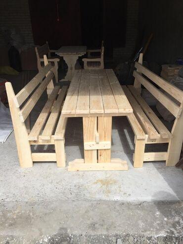 Садовый мебель комплект. Садовый деревянный мебель на заказ
