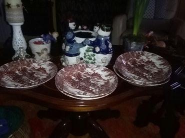 Engleski porcelan stanje extra,duboki tanjiri 5 kom,ocuvani,skroz se - Sombor
