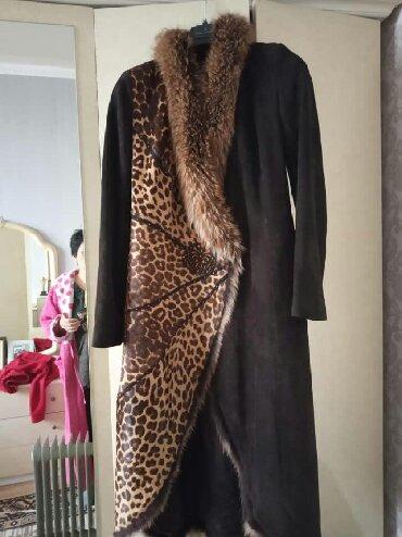 утепленное пальто в Кыргызстан: Турция 48 50размер замш коричневый не утепления она как пальто