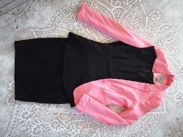 Sako suknja komplet - Srbija: Komplet od tri dela: sako, suknja i top majica! Top majica i suknja su