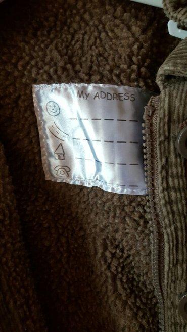 Jakna  braon decija somot jakna sa vunom unutra  novo - Pozarevac - slika 2