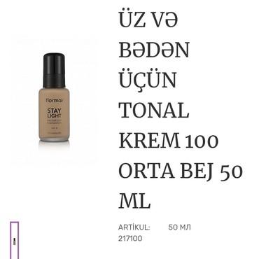 saç stayleri - Azərbaycan: Flormar stay light face & body foundation derinizin butun