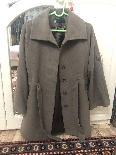 все цвета в Кыргызстан: Кашемированное пальто, цвет капучино. Размер 38, свободная с поясом. Р