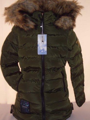 Zimska jakna za devojcice fatirana i postavljena kapuljaca i krzno mog - Beograd