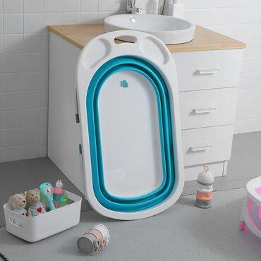 Другие товары для детей в Талас: Компактная складная ванночка для малышей От 0-6 лет.  Цвет синий и роз