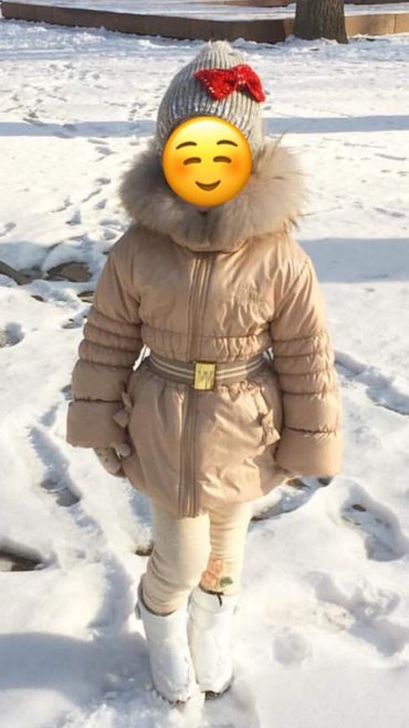 продаю 2 куртки для девочки 4 лет 1. зимняя,очень тёплая,наполнение из в Бишкек