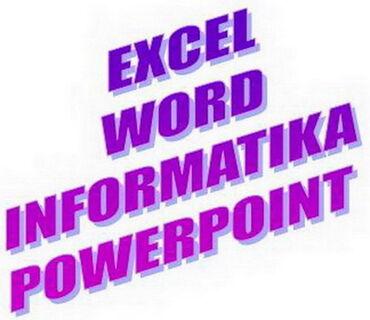 EXCEL, WORD, INFORMATIKA, časovi Дајем часове EXCEL-a од почетног до е