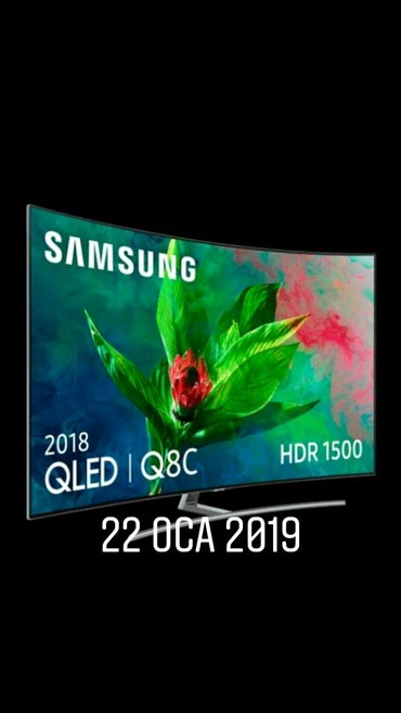 """Bakı şəhərində SAMSUNG QE 55Q8CNAU 140 SM """"Qled tv """" seriya 8 , kurved - eyri ekran ,"""