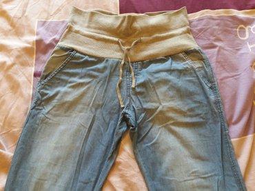 Pantalone-trudnicke - Srbija: Trudnicke pantalone od tanjeg dzinsa, mekane i udobne, bez
