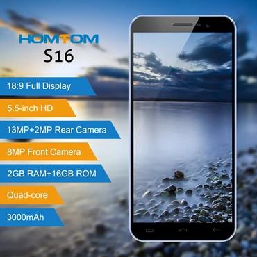 HOMTOM S16 Parmak Izi Cep Telefonu 5.5 Inç 18:9 Ekran 2 GB RAM 16 GB R